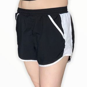Under Armour black and white running shorts